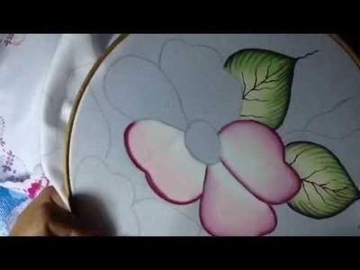 Pintura en tela camino flores # 2 con cony