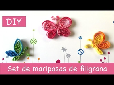 Set de mariposas de filigrana