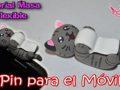 ♥ Tutorial: Accesorio para el Móvil (Gatito juguetón) de Masa Flexible ♥