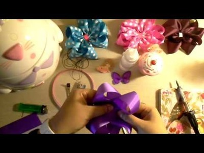 TUTORIAL : Como hacer un moño boutique DOBLE (tecnica Baby Love Couture)