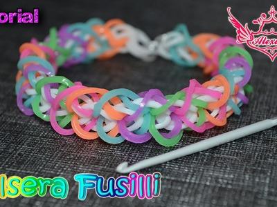 ♥ Tutorial: Pulsera Fussili (sin telar) ♥