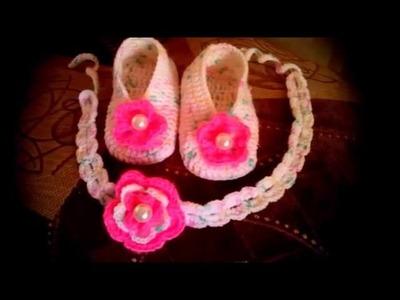 Zapatitos tejidos a crochet para verano e invierno