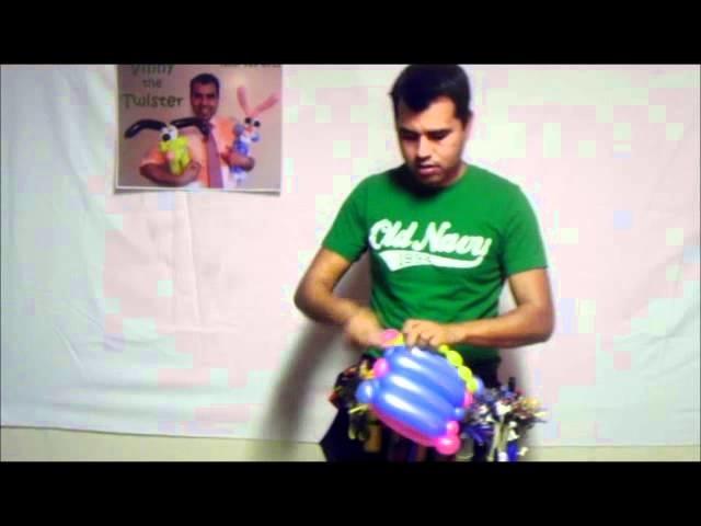 BOLSA DE MANO. Aprenda hacer figuras de globos. Learn to make balloon figures Vinny the twister