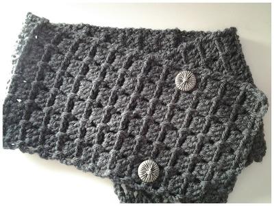 Bufanda con botones muy fácil a crochet #tutorial # DIY