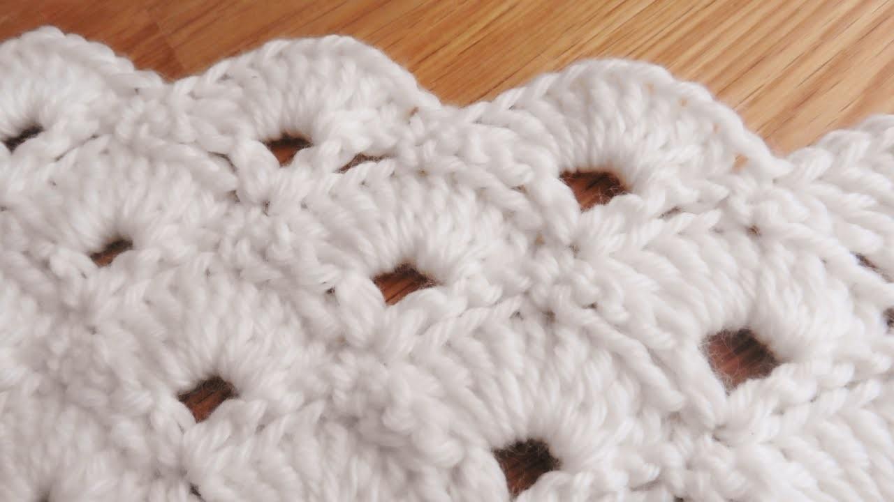Bufanda de Abanicos a Crochet