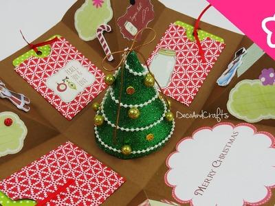 Cajita Tarjeta Explosiva Navidad Excelente idea Para regalo - DecoAndCrafts