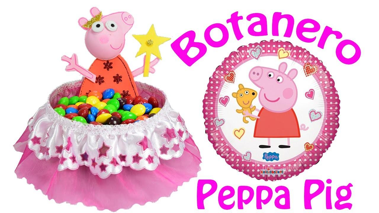 Centro de mesa o Botanero de Peppa pig | El Mundo de MyG