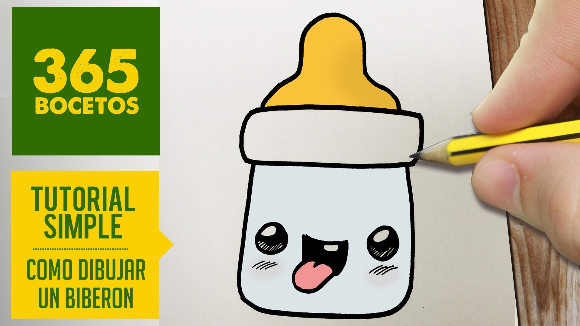 COMO DIBUJAR UN BIBERON KAWAII PASO A PASO - Dibujos kawaii faciles - How to draw a bottle