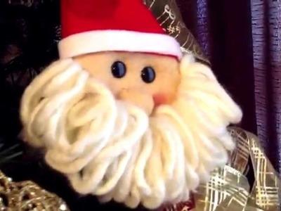 Como hacer a Santa Claus con fieltro, fácil y barato