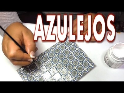 COMO HACER AZULEJOS EN MINIATURA - HOW TO MAKE MINIATURE TILES