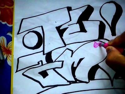 Como hacer un graffiti donde diga te amo!