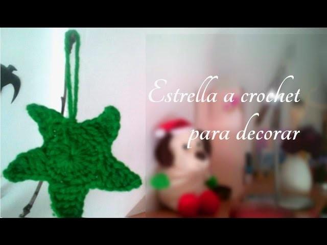 Como hacer una Estrella a crochet súper fácil para decorar .