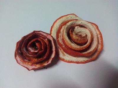 Como hacer una Flor perfumada con cascara de naranja 2ª