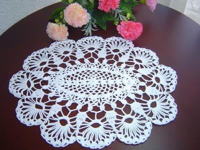 Como Tejer Carpeta o Centro de Mesa a crochet paso a paso DIY 2.3
