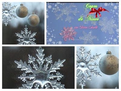 Copos de Nieve con Silicon Caliente  Decoración para el árbol de Navidad ❄ DIY hot glue Snowflakes