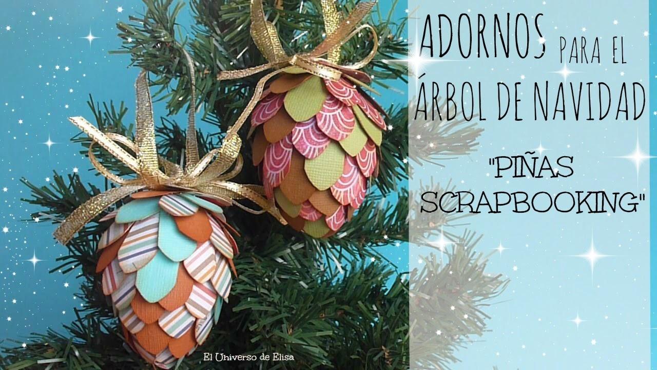 Decora tu Árbol de Navidad con Piñas de Papel Scrapbooking, Manualidades para Navidad