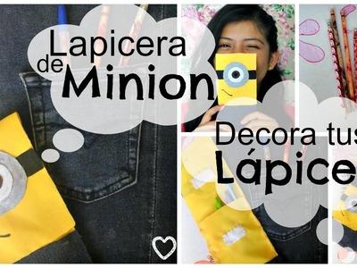 Decora tus Lápices+Lapicera de Minion ♥