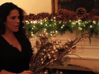 Decoración navideña (chimenea)
