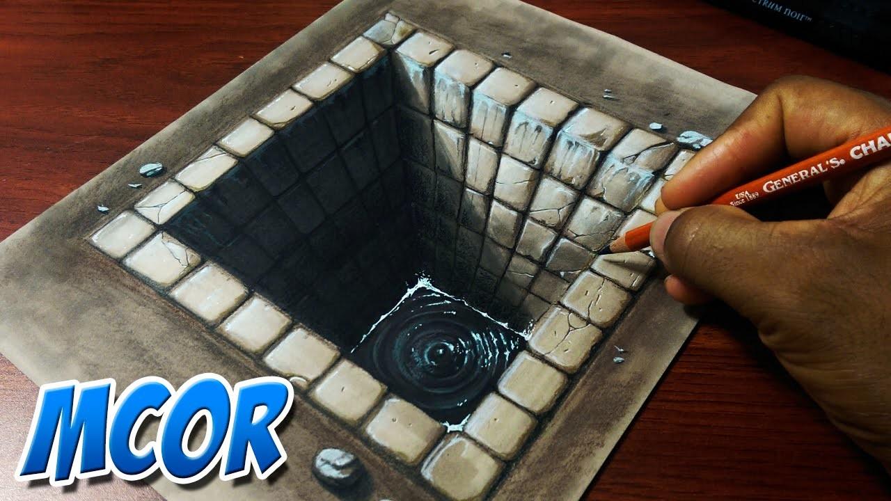 Dibujando un Hoyo de Ladrillo 3D | Ilusion optica