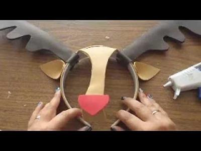 Disfraz. Cuernos de Reno tipo mascara