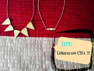 DIY: Collares con cd's !!! ||♥ Haz tus propios collares. accesorios!! || FACIL