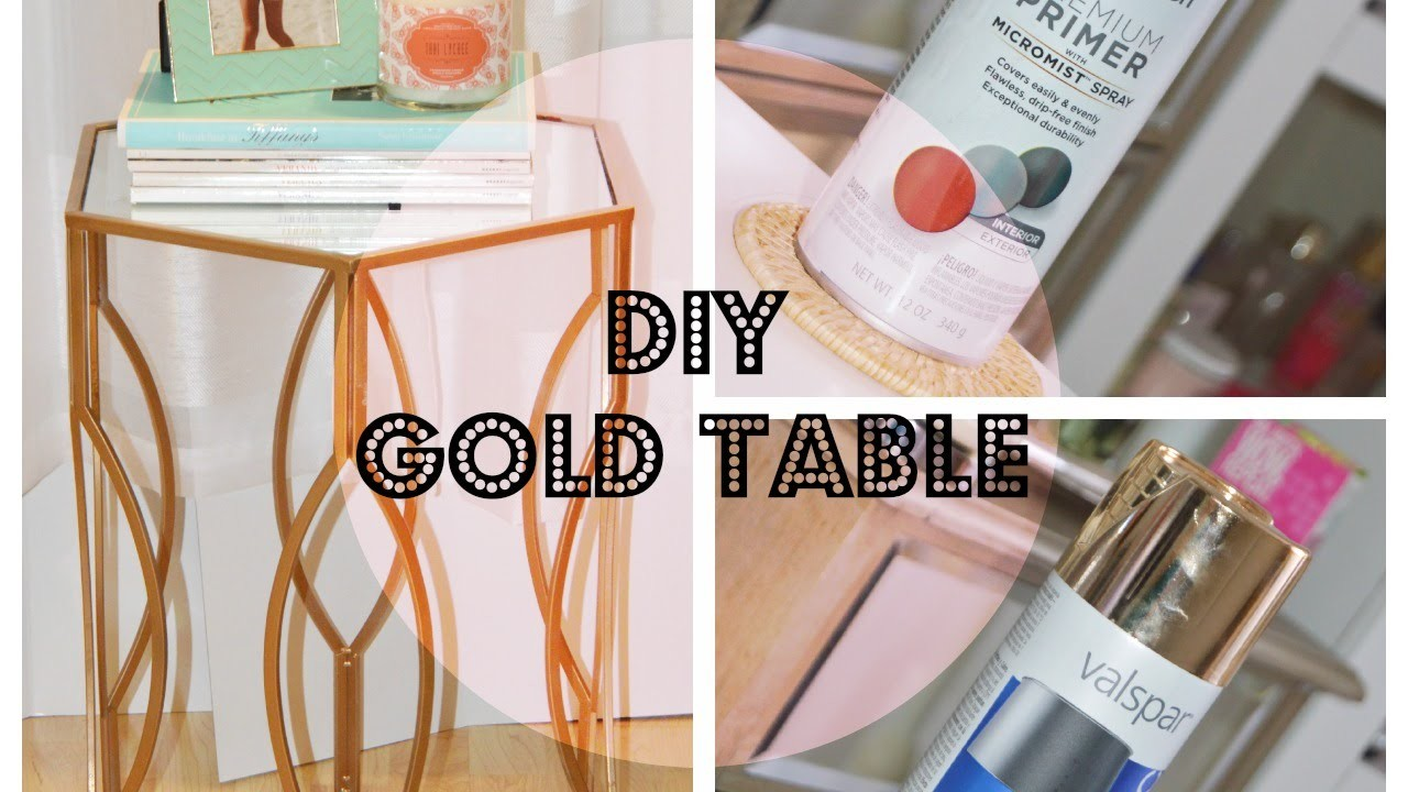 DIY GOLD TABLE
