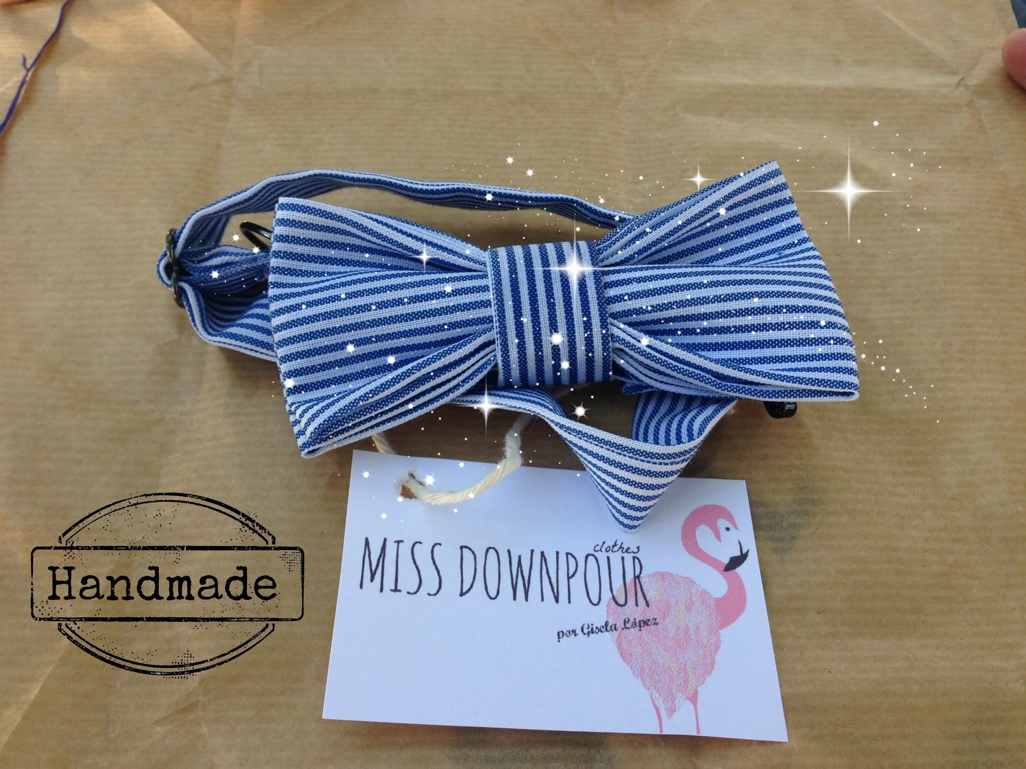 DIY: HOW TO MAKE A BOW TIE NO SEW (como hacer una pajarita sin coser)