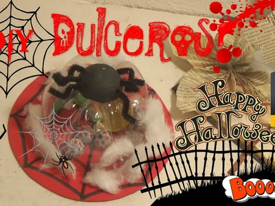 Dulcero para Halloween Araña manualidad.EASY & CHEAP HALLOWEEN CRAFTS