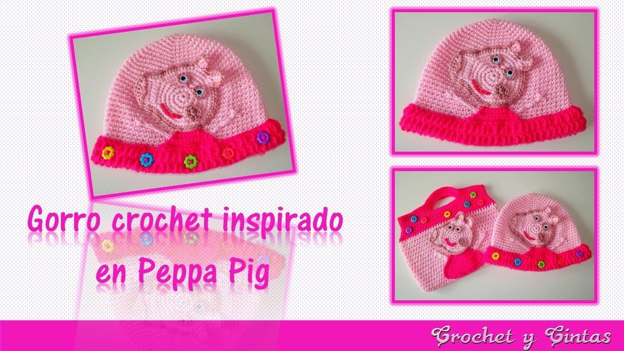 Gorro crochet ganchillo Peppa Pig para niñas – Parte 1