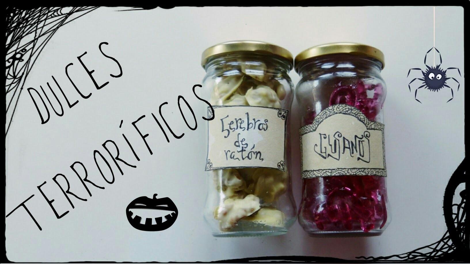 Gusanos y cerebros: dulces para Halloween o fiesta con temática de terror