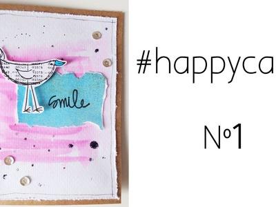 #happycards nº1: Smile. Tarjetas rápidas con materiales baratos.