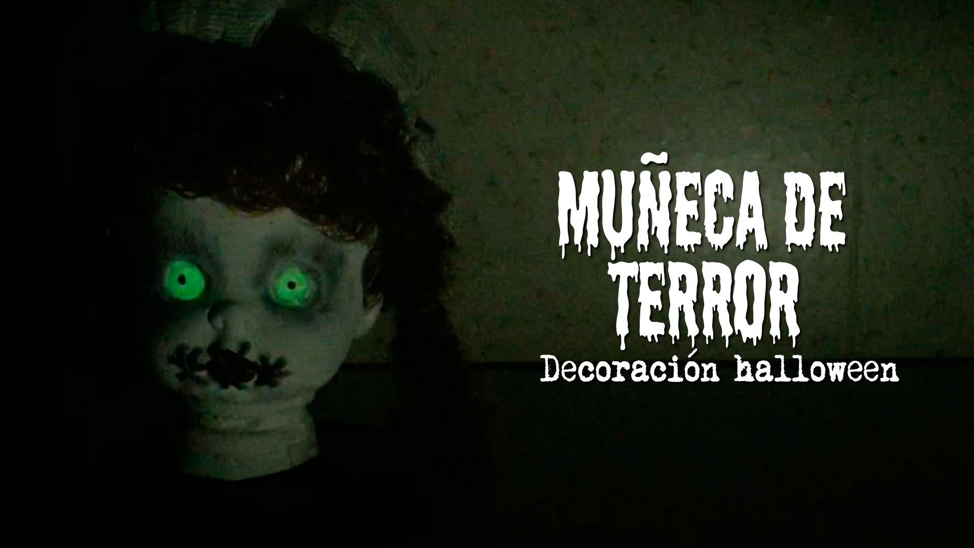 HAZ UNA MUÑECA DE TERROR PARA HALLOWEEN