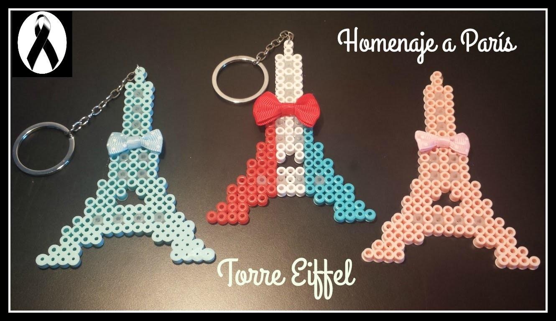 ❤ Homenaje a PARÍS: Torre Eiffel de Hama Beads (Perler Beads) ❤