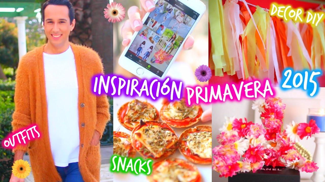 ¡Inspiración para Primavera! 2015 ❀ Decor DIY, Snacks, Música, Outfits, Apps & Más