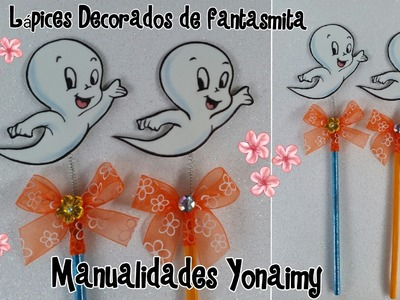 LAPICES DECORADOS DE GASPARIN  EL  FANTASMITA  AMIGABLE