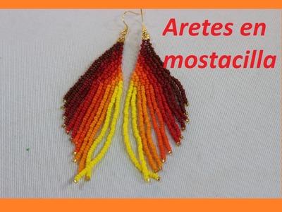 Lindos aretes en mostacilla checa