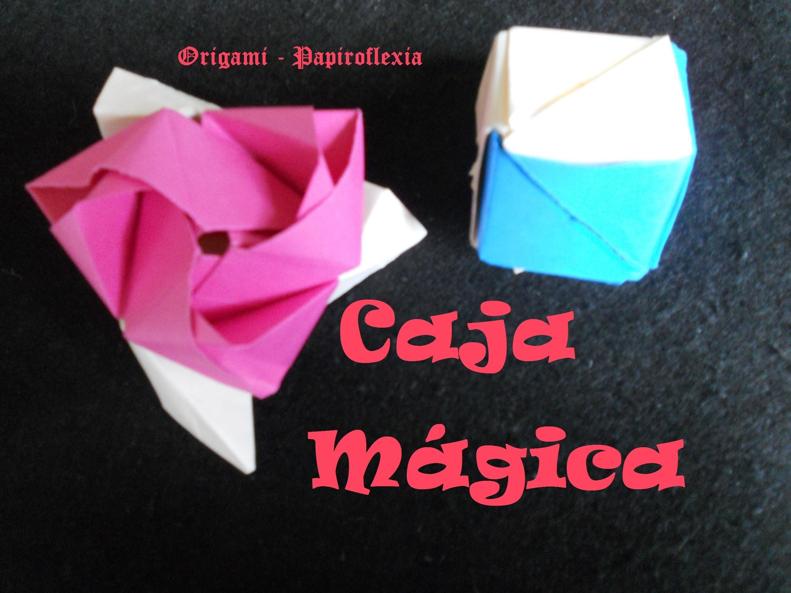 Origami - Papiroflexia. Tutorial: Caja mágica rosa