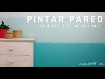 Pintar pared con efecto degradado azul