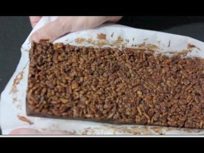 Receta de turrón fácil de chocolate con tutorial de molde