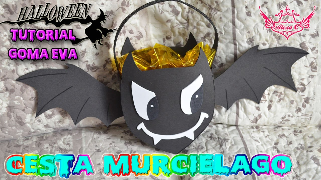♥ Tutorial Halloween: Cesta de Murciélago de Goma Eva (Foamy) ♥