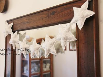 Adornos de Navidad: guirnalda de estrellas