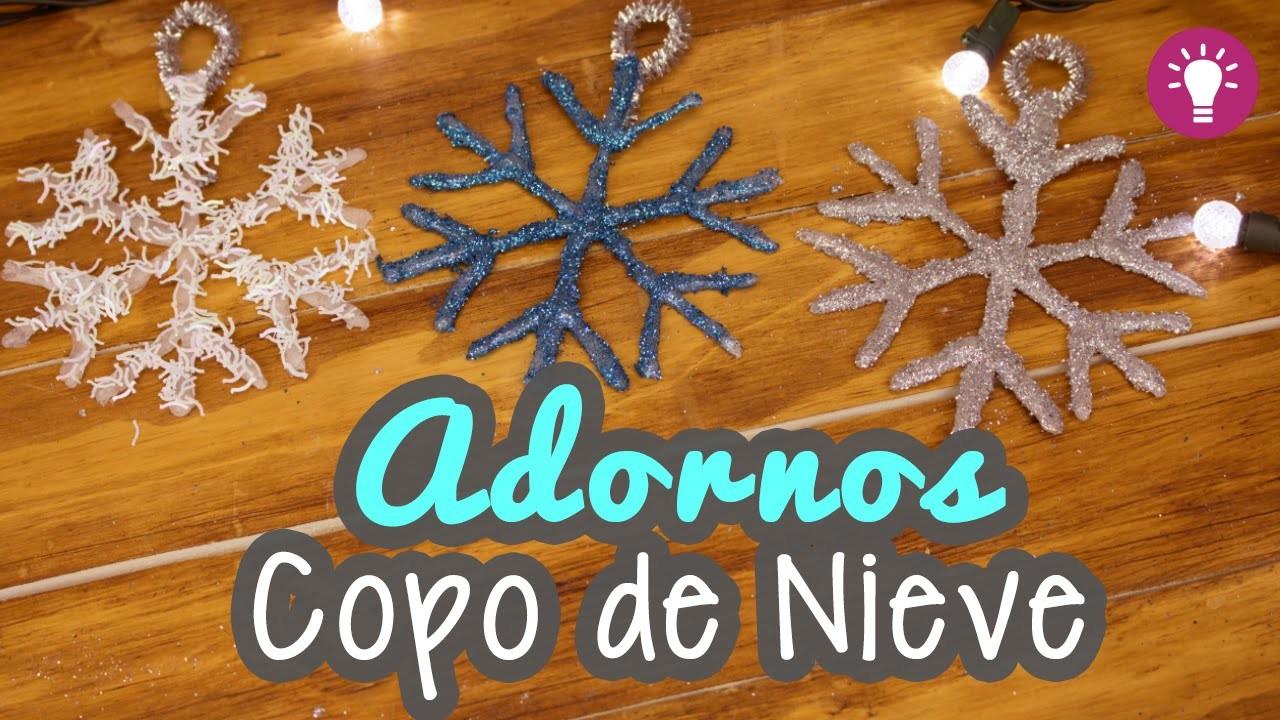 Adornos Navideños - Copos de Nieve con Silicón - Manualidades para Navidad - Mini Tip# 72