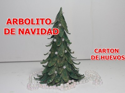 ARBOL DE NAVIDAD CON CARTON DE HUEVOS - Christmas tree with egg carton