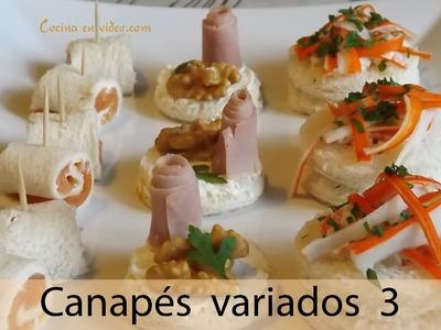Canapés variados 3, aperitivos fáciles y sabrosos - varied canapé   #TonioCocina 107