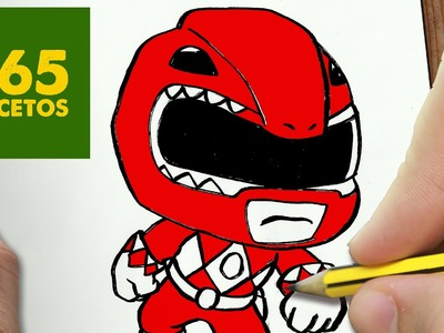 COMO DIBUJAR POWER RANGER KAWAII PASO A PASO - Dibujos kawaii faciles - How to draw a POWER RANGER