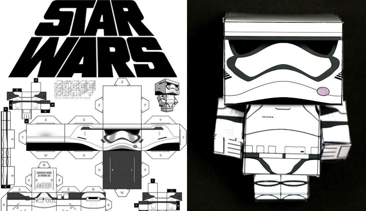 Como hacer cubecraft o papercraft: stormtrooper de Star Wars