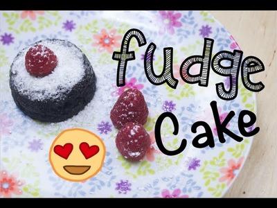➭ ¿Como hacer un Fudge Cake? SIN HORNO! ♥︎ SÚPER FÁCIL - Miranda Ibañez