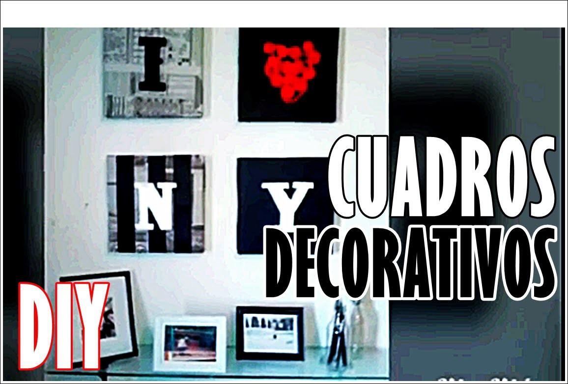 Cuadros para decorar DIY - #holayosoyrafa