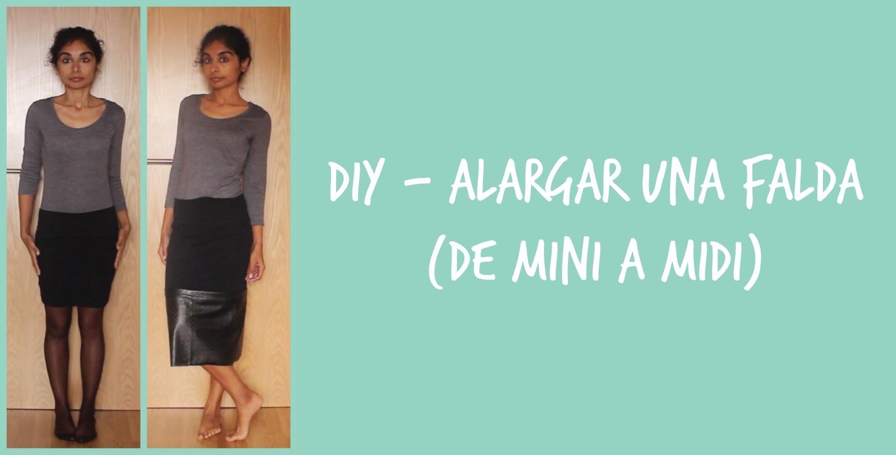 DIY - Alargar una falda (de mini a Midi)