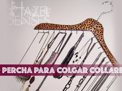 DIY - Percha para colgar collares